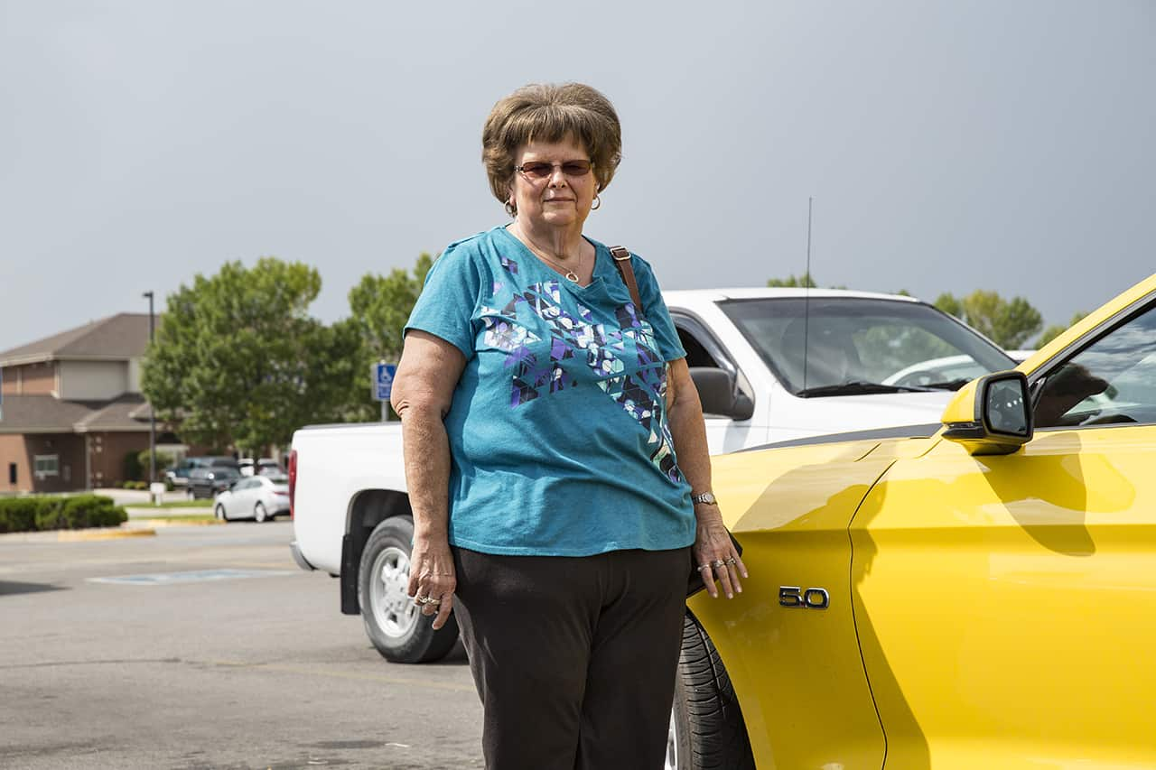 Mary Ann and her 2015 Mustang GT Convertible in Fort Dodge, Iowa