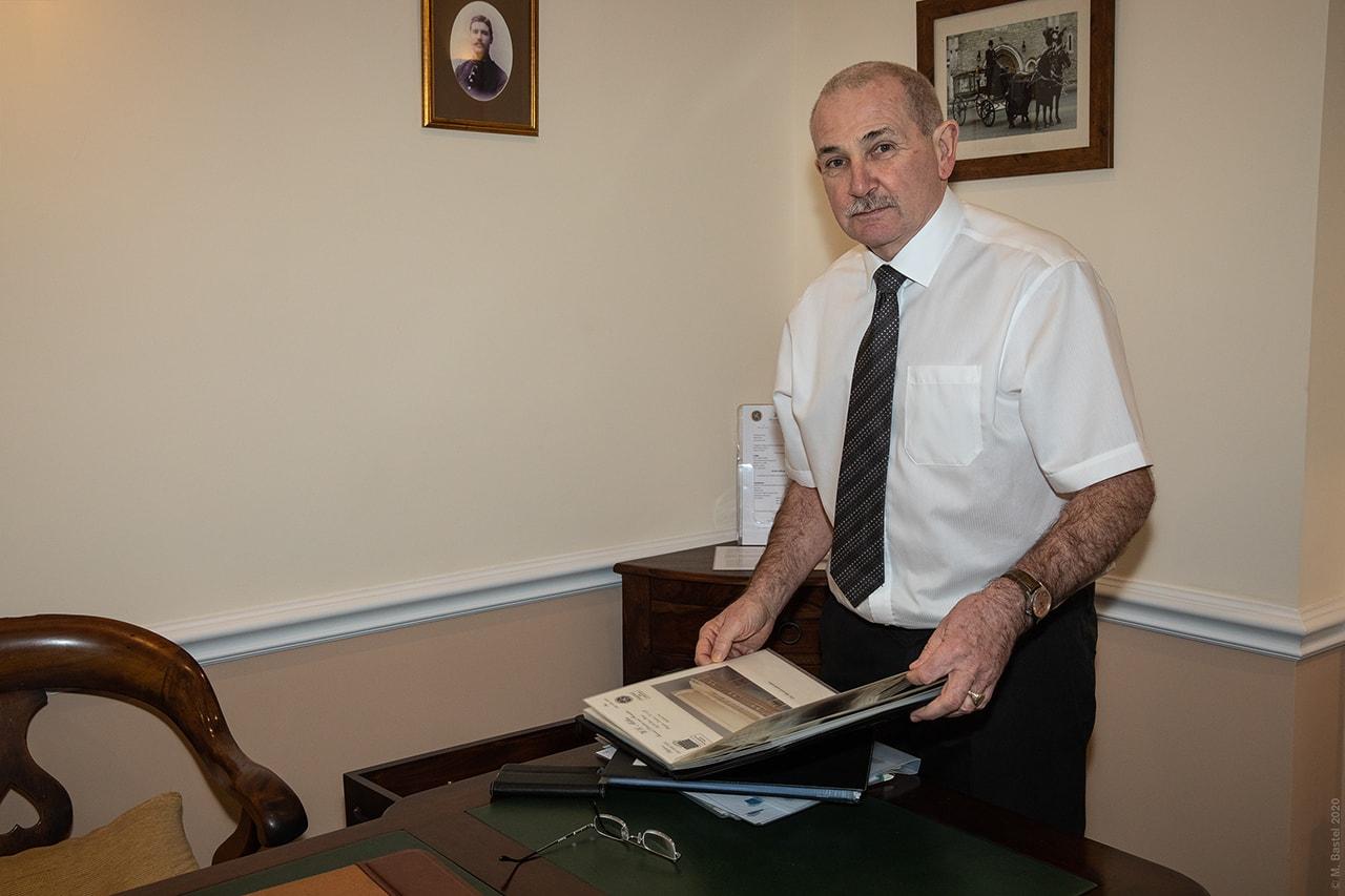 Andrew Miller, Funeral Director